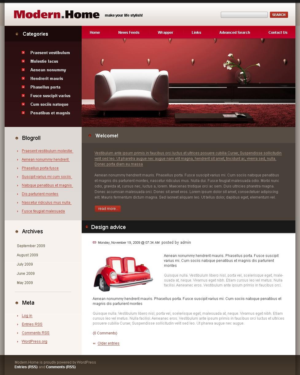 Mod le psd 49871 pour site de design int rieur for Site de design interieur