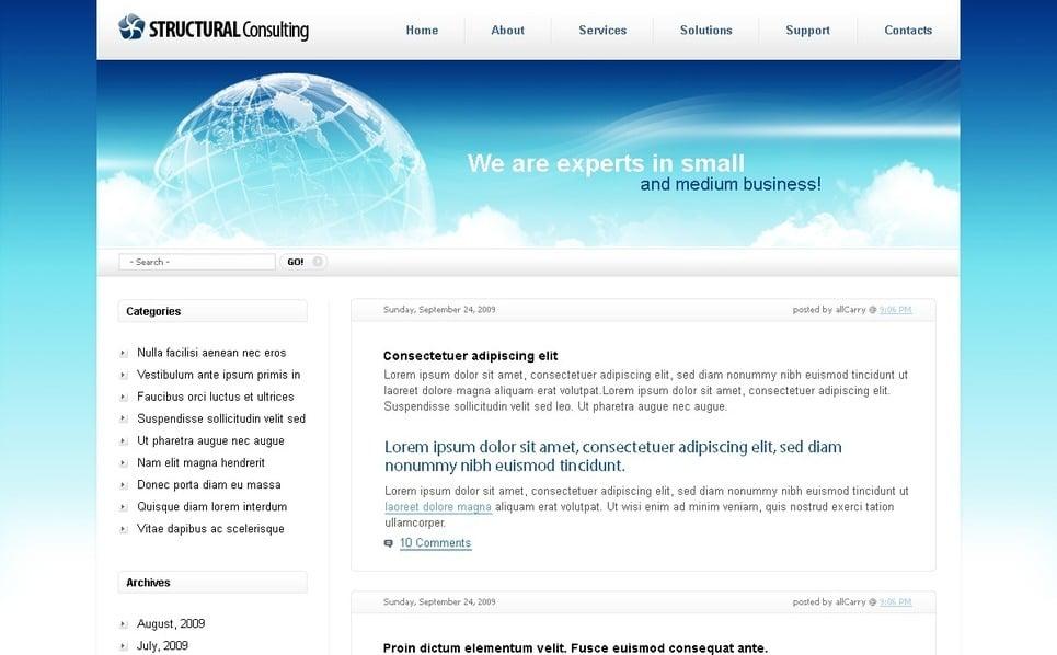 Szablon PSD #49877 na temat: usługi doradcze New Screenshots BIG