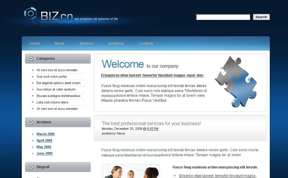 Plantilla PSD #49882 para Sitio de Negocio y Servicios New Screenshots BIG