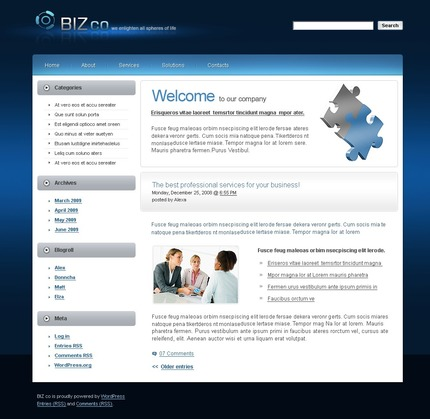 ADOBE Photoshop Template 49882 Home Page Screenshot