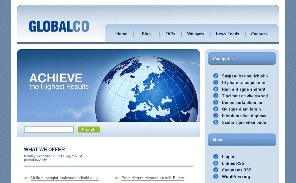 Plantilla PSD #49885 para Sitio de Negocio y Servicios New Screenshots BIG