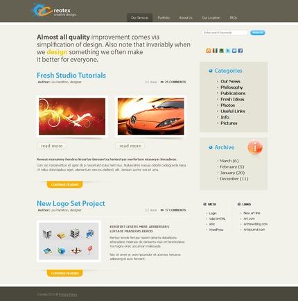 ADOBE Photoshop Template 49893 Home Page Screenshot