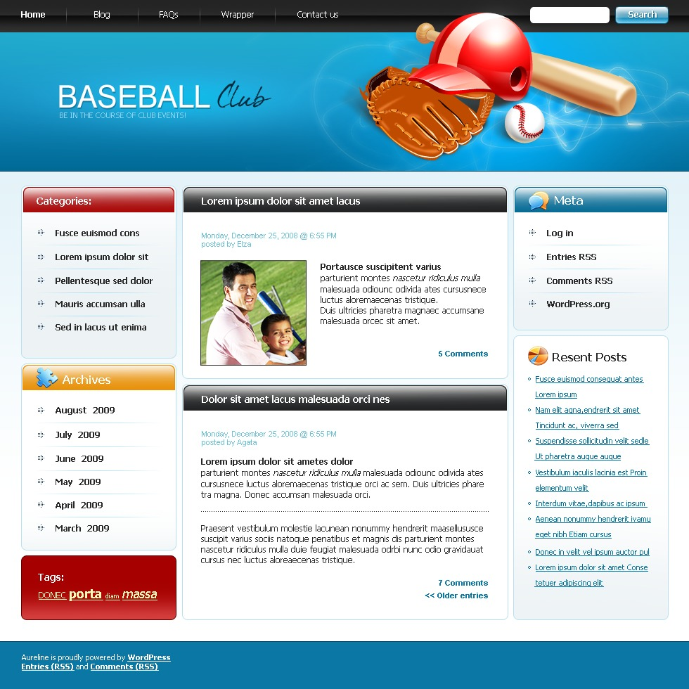 Tolle Baseball Website Vorlagen Fotos - Beispiel Business Lebenslauf ...