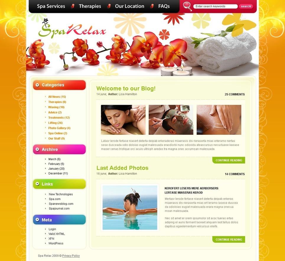 Beauty Salon PSD Template New Screenshots BIG