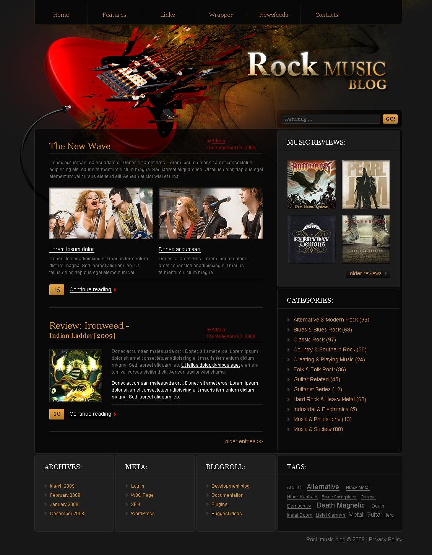 Music Blog PSD Template
