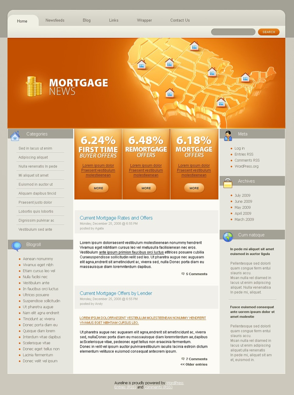 PSD Vorlage #49881 für Hypothek