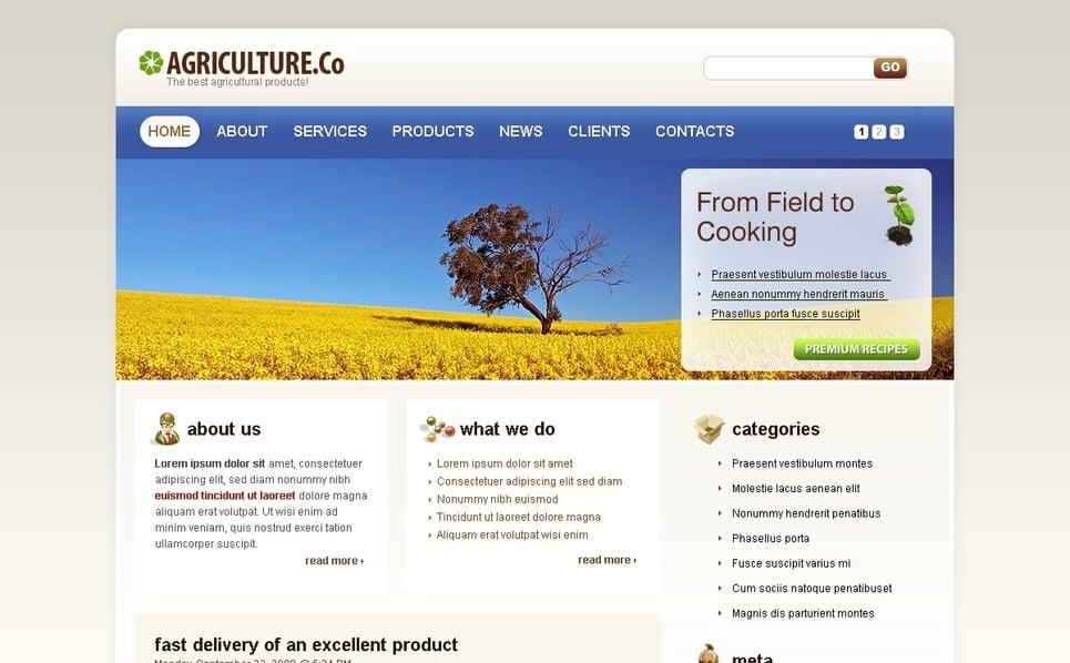 Plantilla PSD #49900 para Sitio de Agricultura New Screenshots BIG
