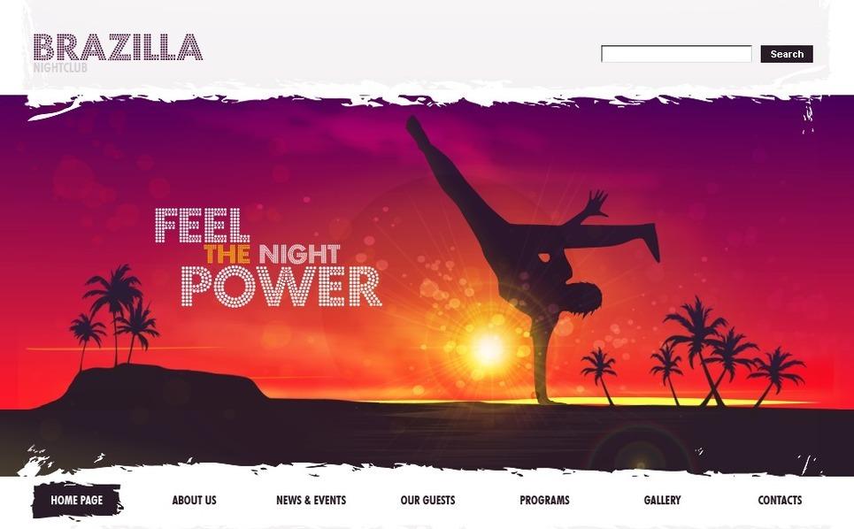 Plantilla PSD #49901 para Sitio de Discoteca New Screenshots BIG