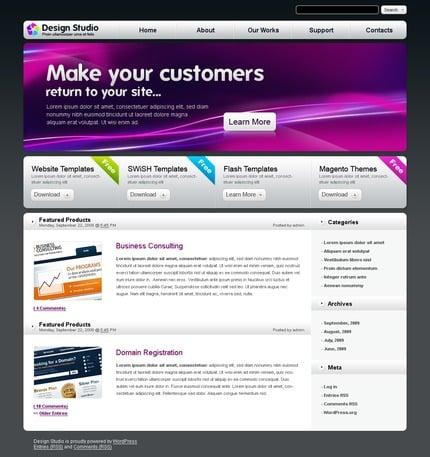 ADOBE Photoshop Template 49909 Home Page Screenshot