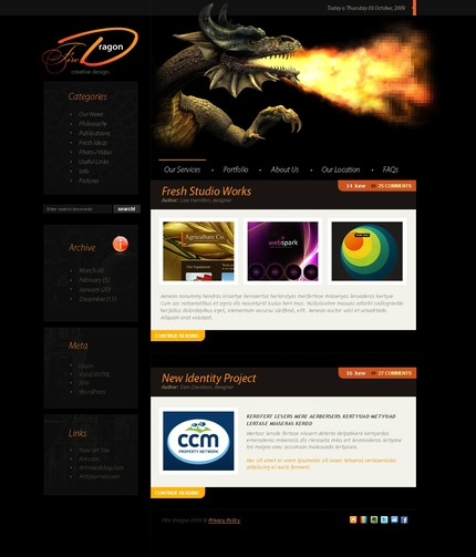 ADOBE Photoshop Template 49910 Home Page Screenshot