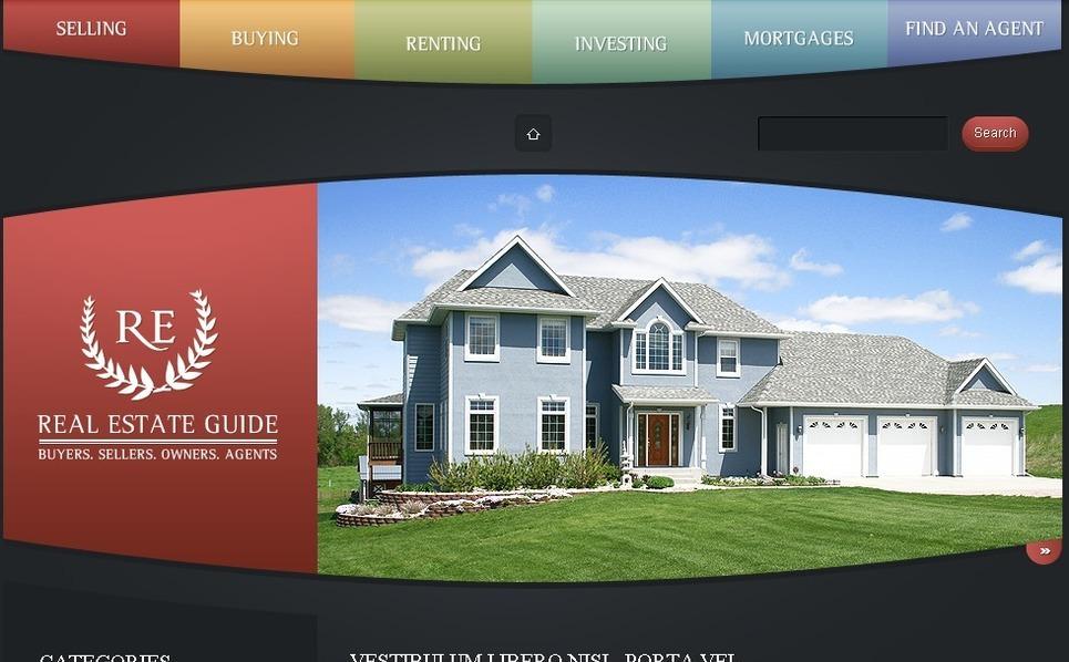 Template Photoshop  para Sites de Agencia imobiliária №49911 New Screenshots BIG