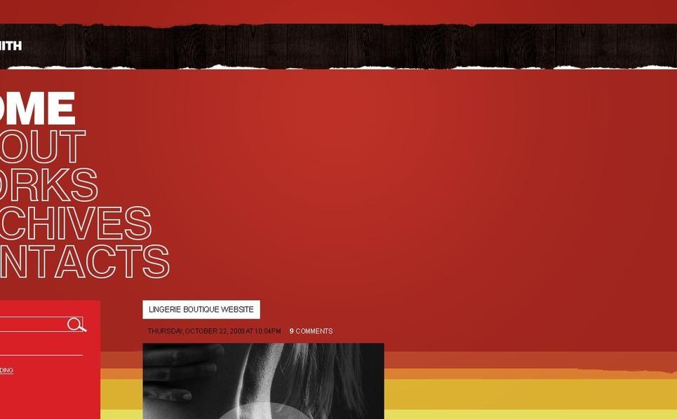 Plantilla PSD #49914 para Sitio de Página personal New Screenshots BIG