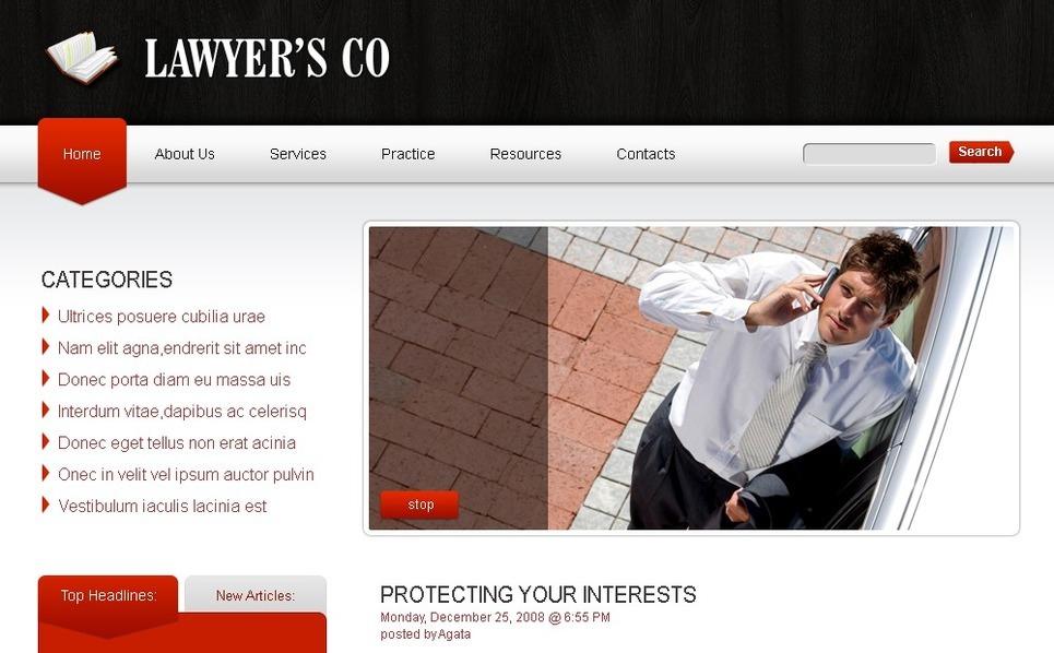 PSD Vorlage für Rechtsanwalt  New Screenshots BIG