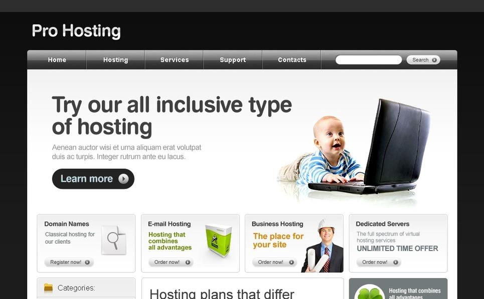 PSD Template over Hosting  New Screenshots BIG