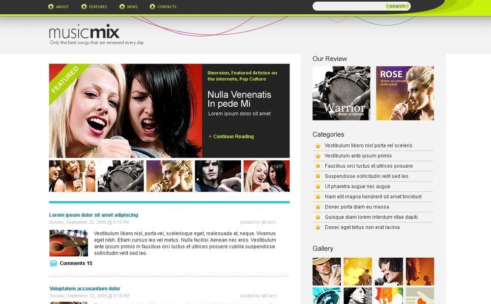 Modèle PSD  pour blog de musique New Screenshots BIG