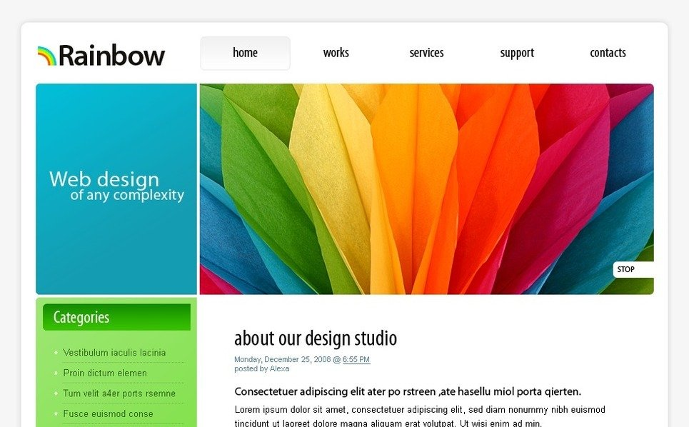 PSD Template over Ontwerpstudio  New Screenshots BIG