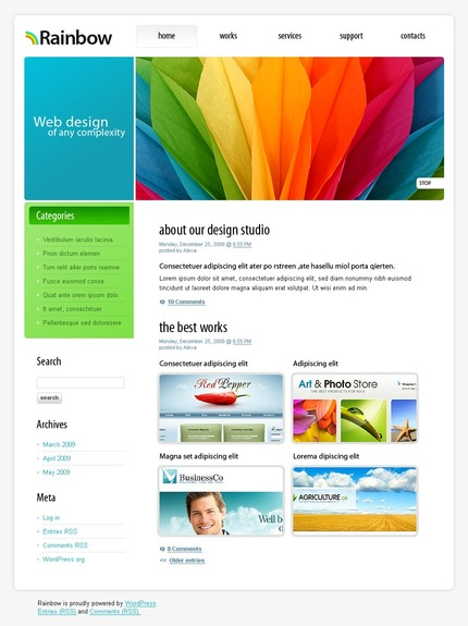 ADOBE Photoshop Template 49921 Home Page Screenshot