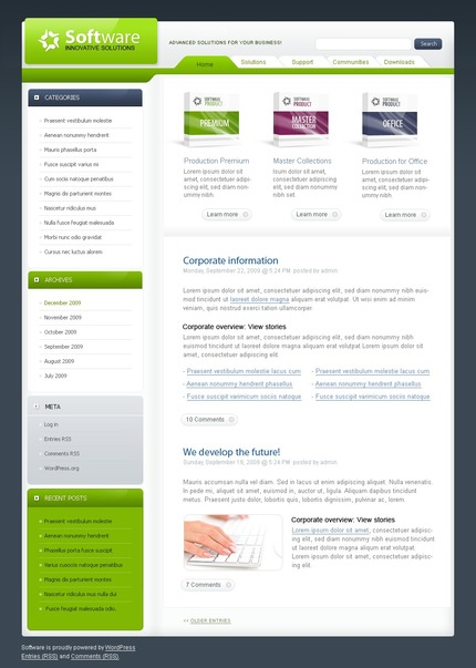 ADOBE Photoshop Template 49922 Home Page Screenshot