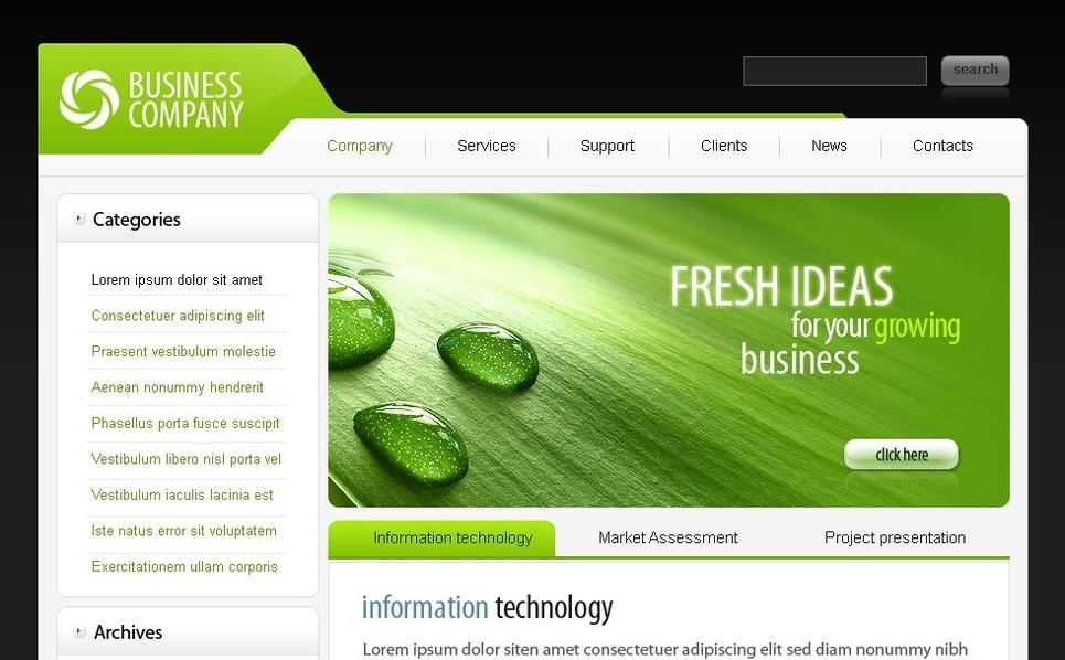 Plantilla PSD #49923 para Sitio de Negocio y Servicios New Screenshots BIG