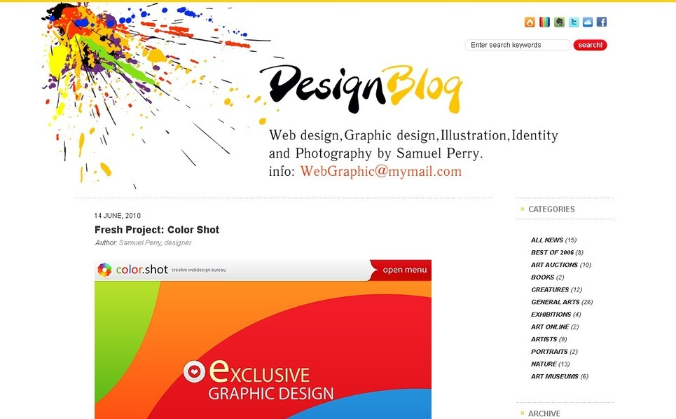 PSD Vorlage für Designstudio  New Screenshots BIG