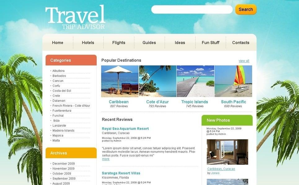 PSD шаблон №49938 на тему путешествия New Screenshots BIG