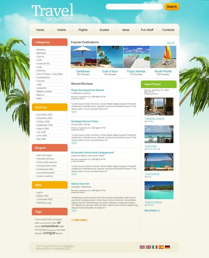 ADOBE Photoshop Template 49938 Home Page Screenshot