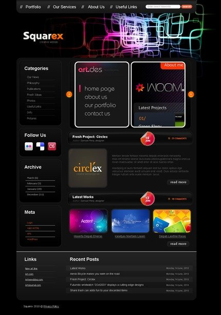 ADOBE Photoshop Template 49939 Home Page Screenshot