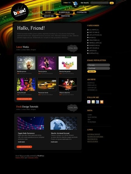 ADOBE Photoshop Template 49940 Home Page Screenshot