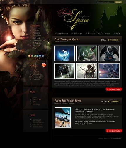 ADOBE Photoshop Template 49943 Home Page Screenshot