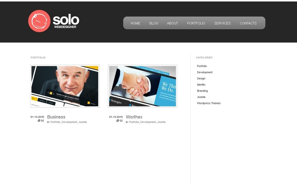 Szablon PSD #49945 na temat: web design New Screenshots BIG