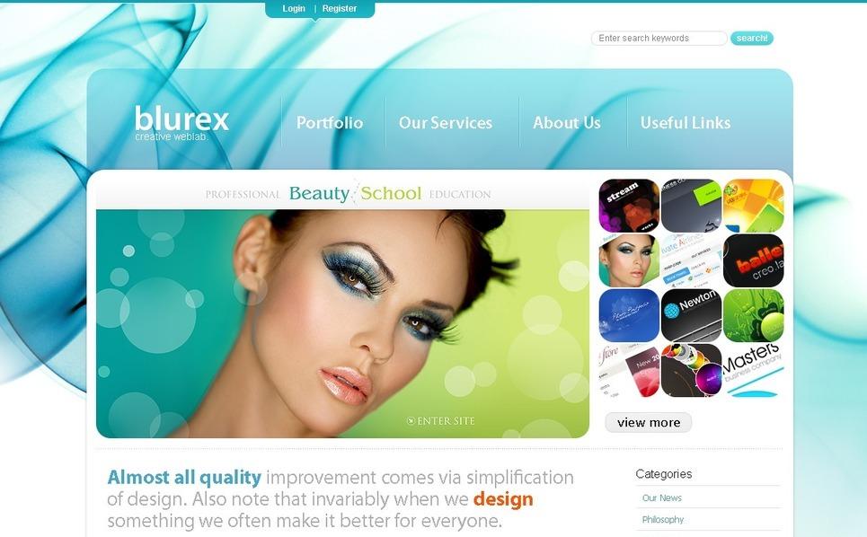 Plantilla PSD #49948 para Sitio de Diseño Web New Screenshots BIG