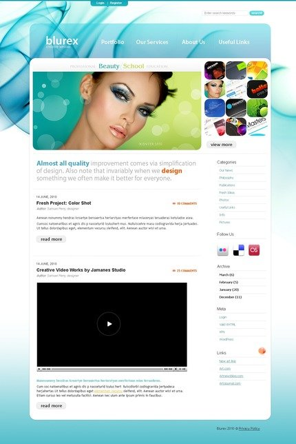 ADOBE Photoshop Template 49948 Home Page Screenshot