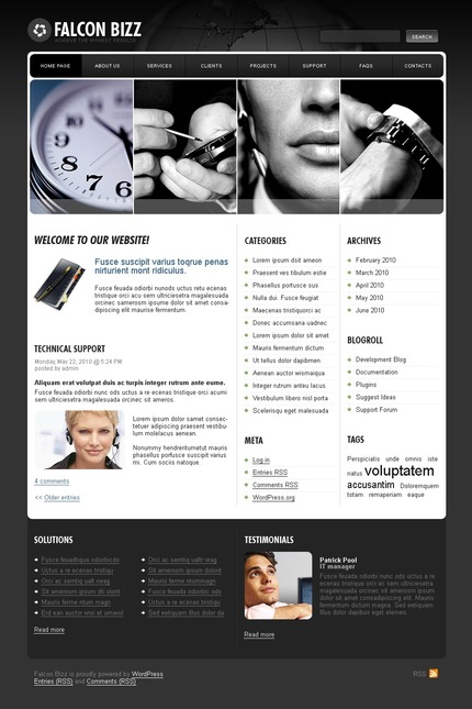 ADOBE Photoshop Template 49950 Home Page Screenshot