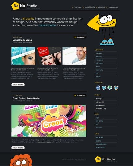 ADOBE Photoshop Template 49951 Home Page Screenshot