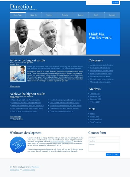 ADOBE Photoshop Template 49953 Home Page Screenshot