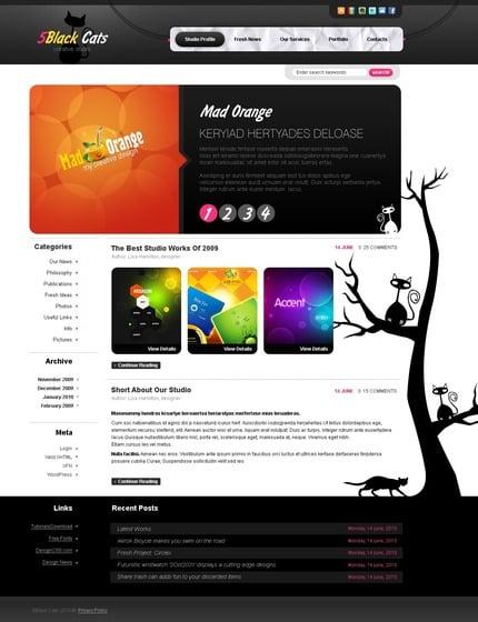 ADOBE Photoshop Template 49955 Home Page Screenshot