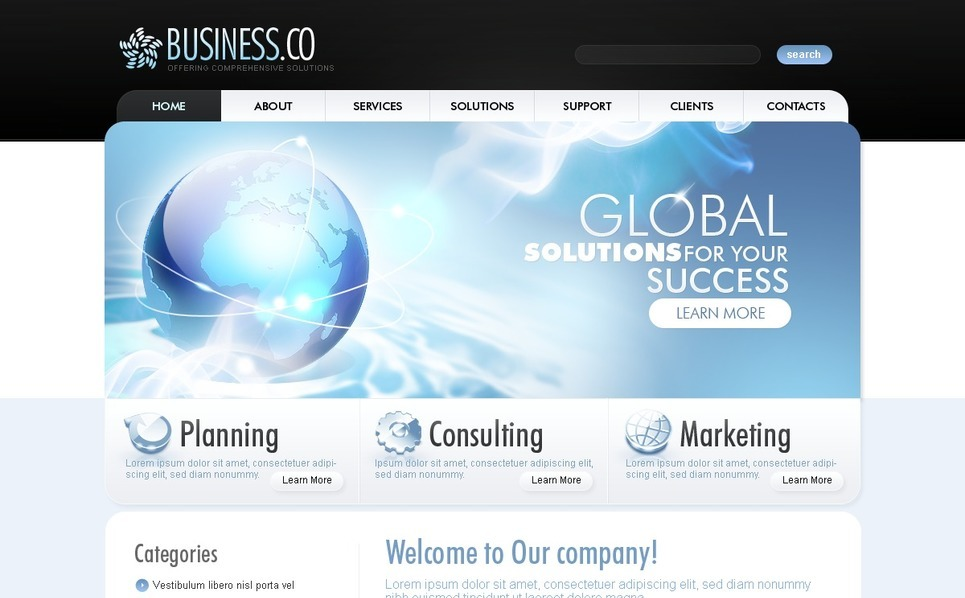 Szablon PSD #49957 na temat: biznes i usługi New Screenshots BIG