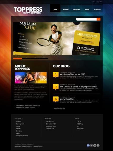 ADOBE Photoshop Template 49960 Home Page Screenshot