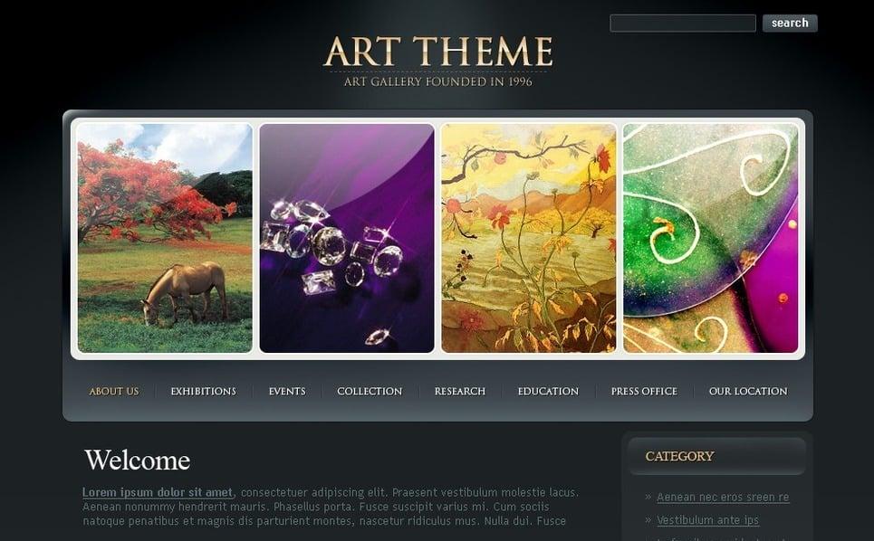 Művészeti galériák PSD sablon New Screenshots BIG