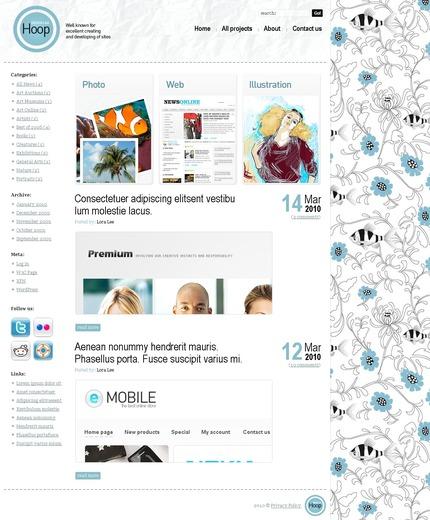 ADOBE Photoshop Template 49962 Home Page Screenshot