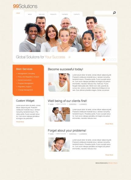 ADOBE Photoshop Template 49964 Home Page Screenshot