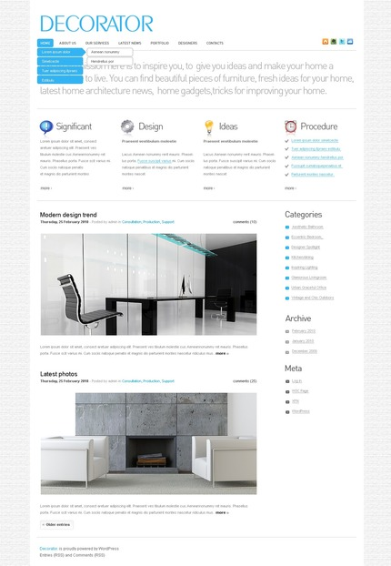 ADOBE Photoshop Template 49969 Home Page Screenshot