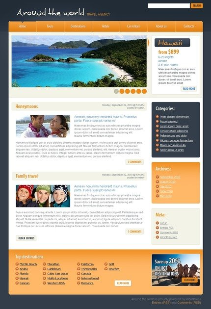 ADOBE Photoshop Template 49970 Home Page Screenshot