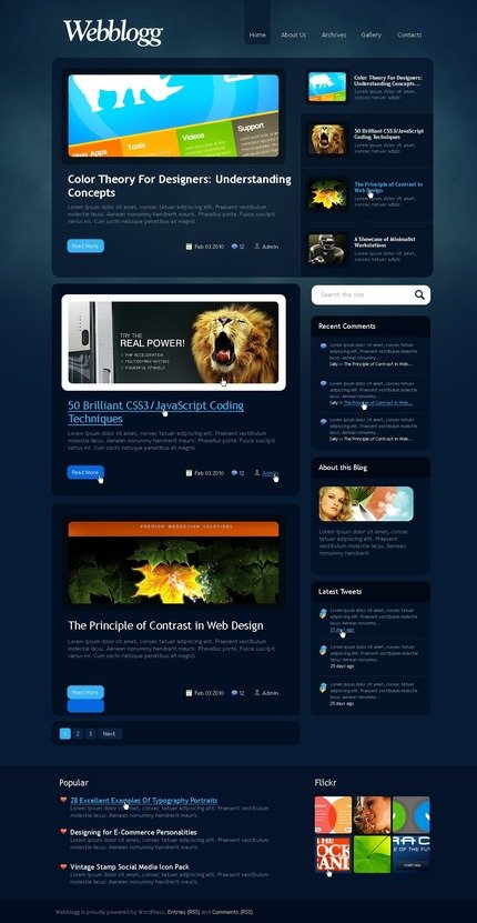 ADOBE Photoshop Template 49973 Home Page Screenshot