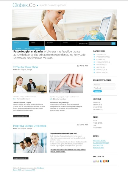 ADOBE Photoshop Template 49981 Home Page Screenshot