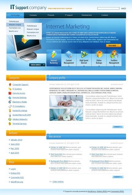PSD макет сайта №49982