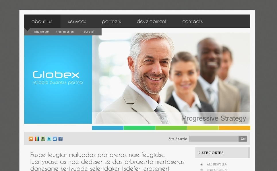 Business PSD Template New Screenshots BIG