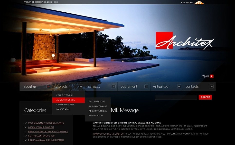 Template Photoshop  para Sites de Arquitetura №49985 New Screenshots BIG