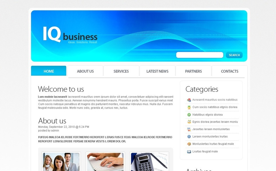 Template Photoshop  para Sites de Business & Services №49993 New Screenshots BIG