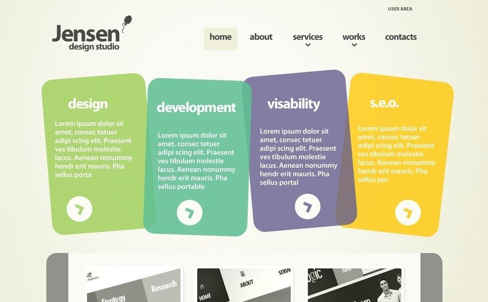 Modèle PSD  pour site de design web New Screenshots BIG